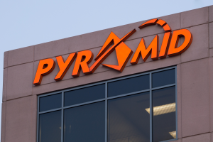 Outside Pyramid sign