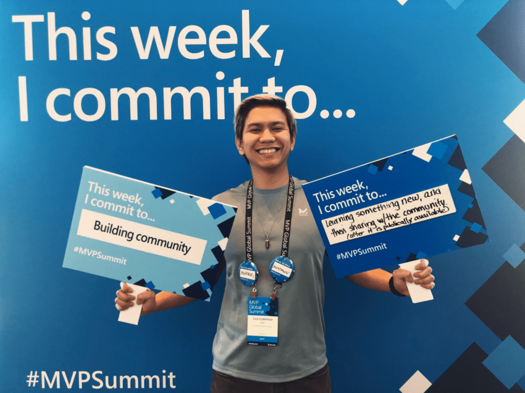 Leo Luis at the Microsoft MVP Summit